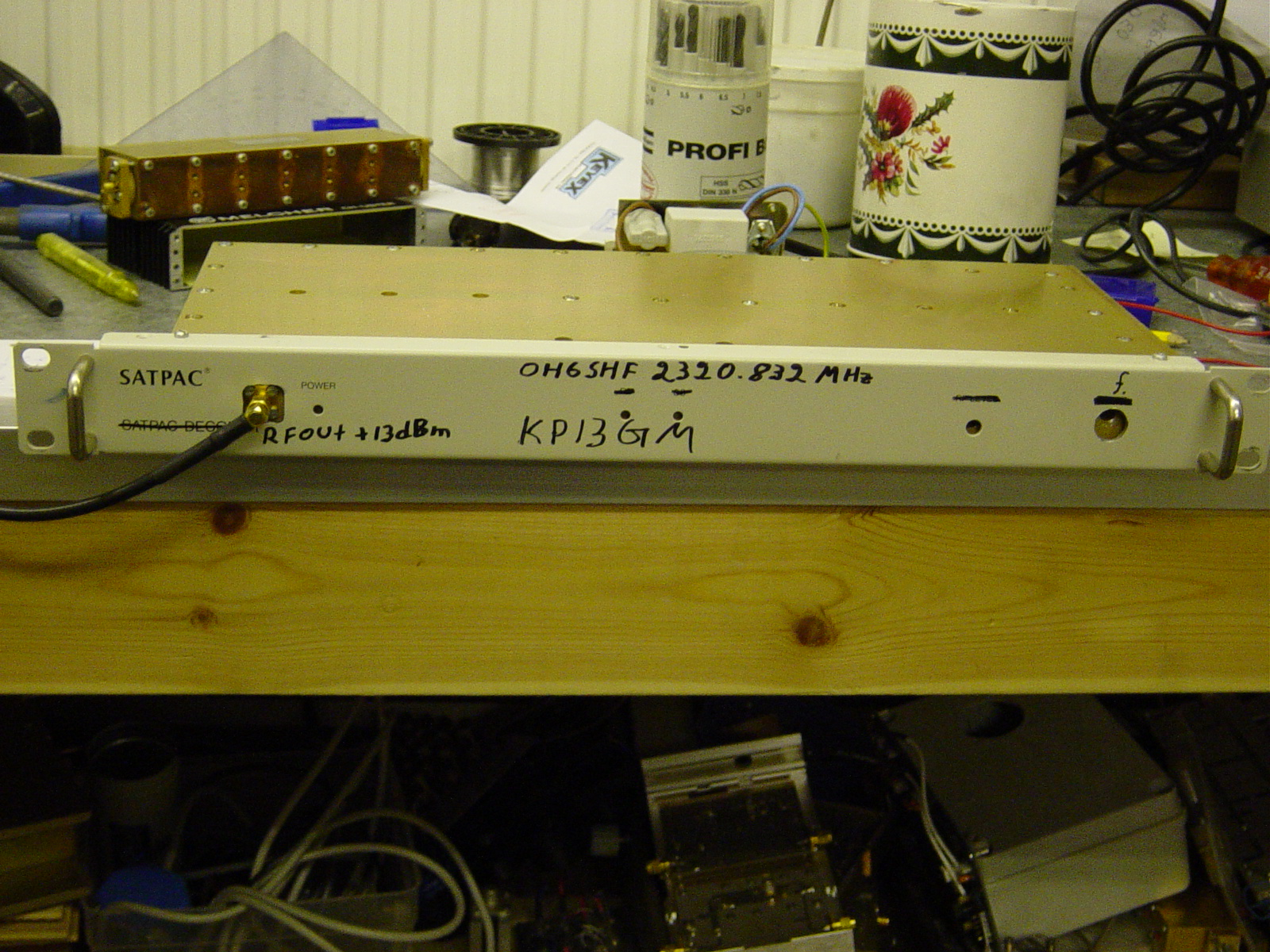 13 cm beacon project OH6SHF 2320 832 Mhz (not yet qrv at